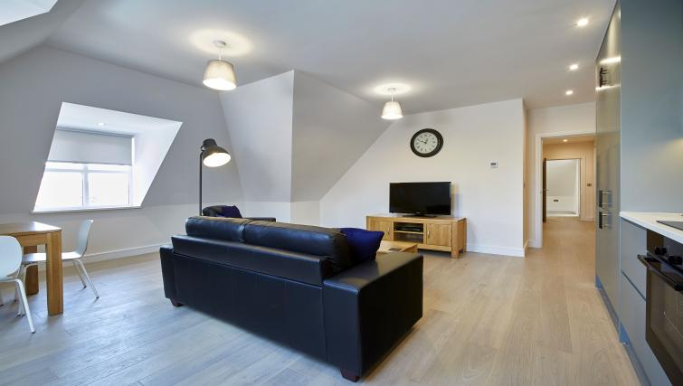 Modern living room at Imperial Court Apartments - Citybase Apartments
